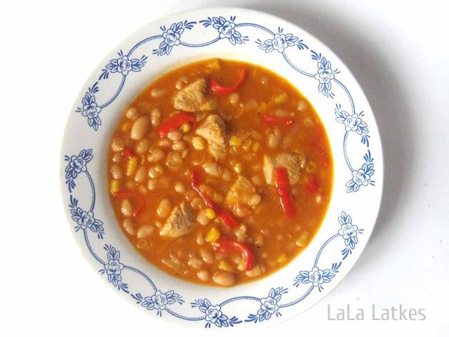 Рагу с курицей в мексиканском стиле