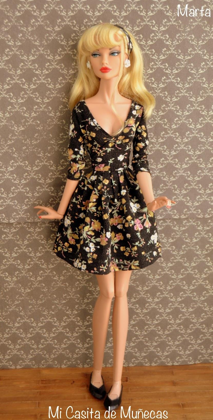 Poppy Parker, vestido, zapatos, mi casita de muñecas, marta del pino