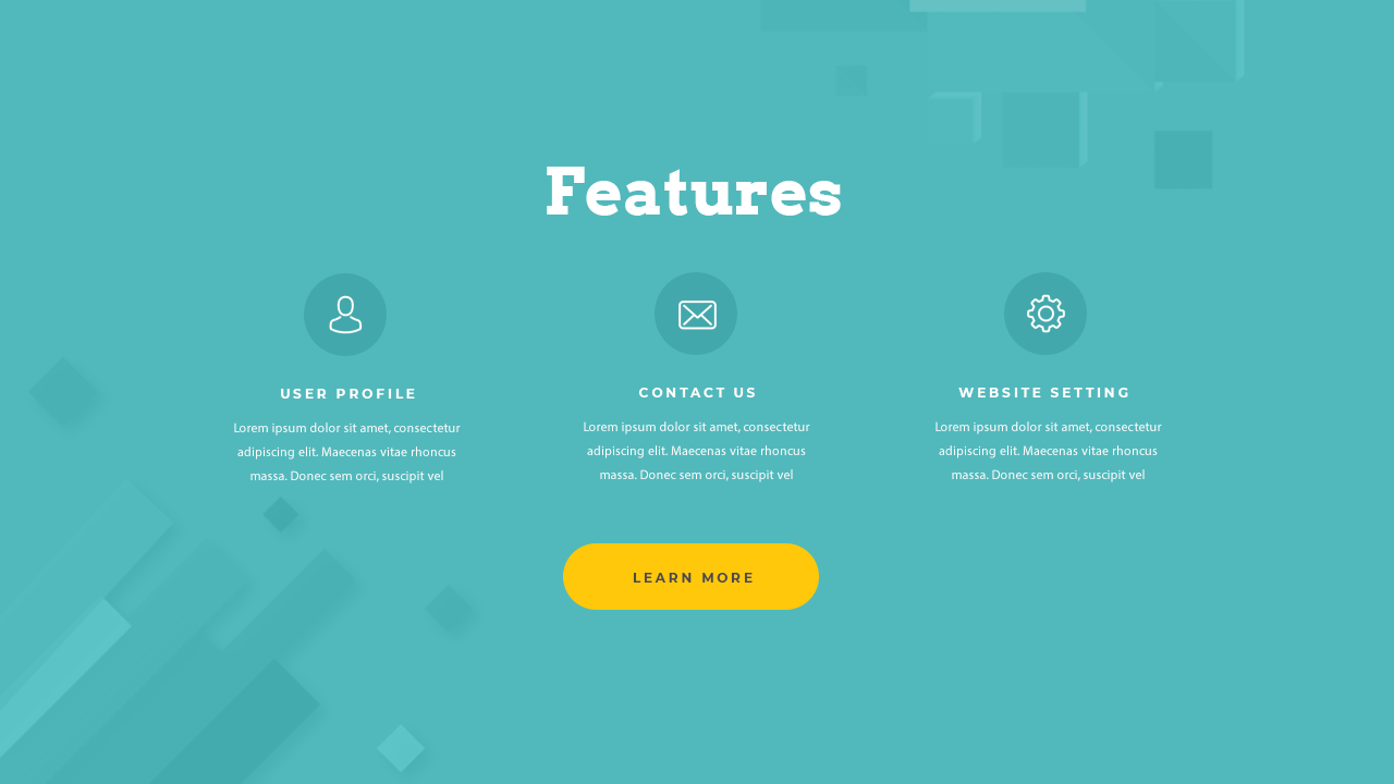 Website Features Design PSD Free Download