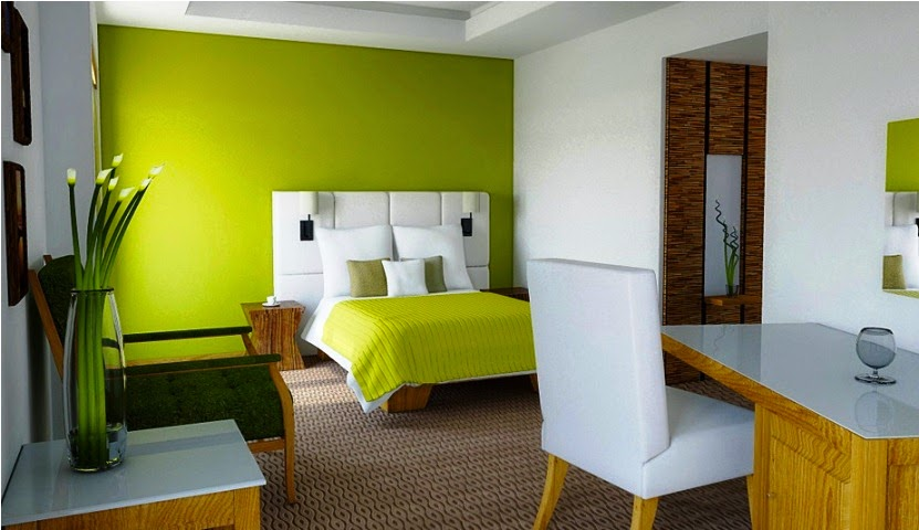 Interior paint color schemes green - Bedroom wall paint colors ...