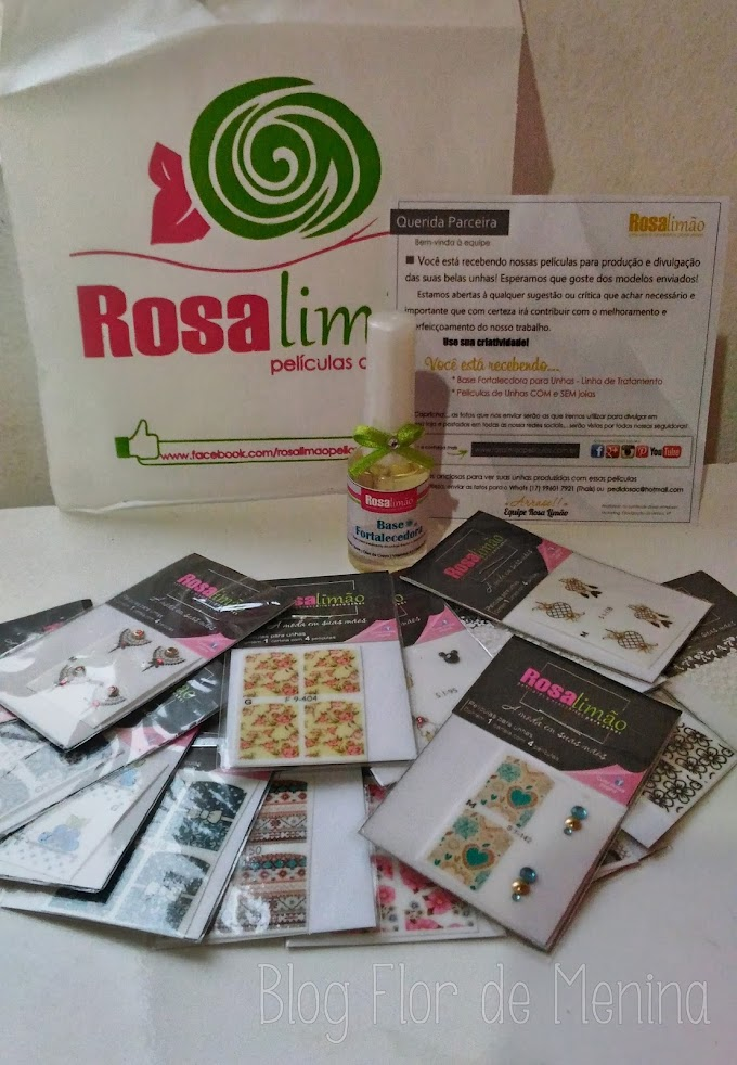 Recebidos: Rosa Limão Películas de Unhas