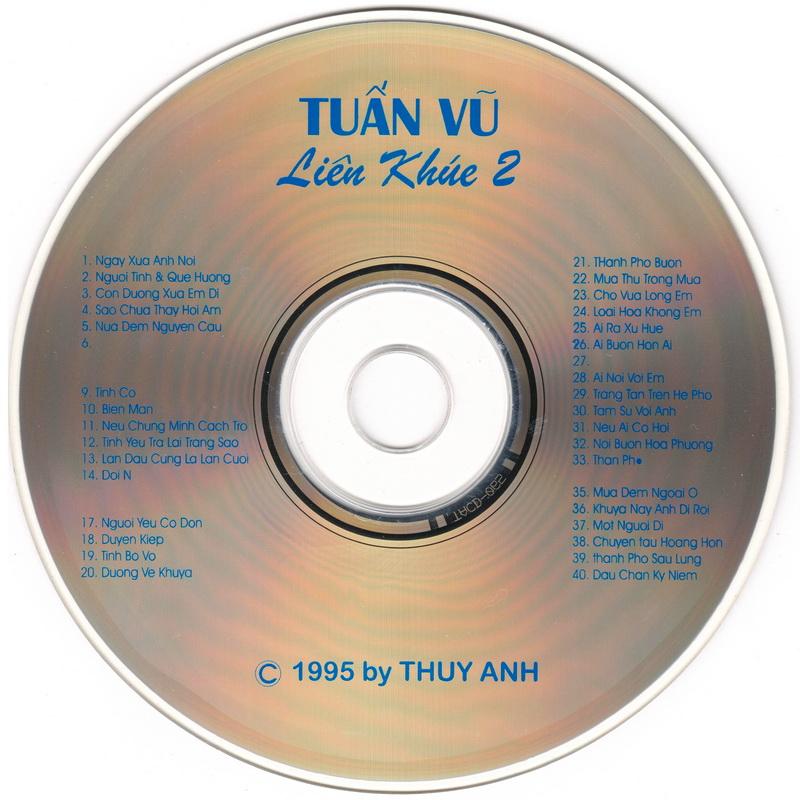 CD nhạc liên khúc Tuấn Vũ (1995) [WAV]