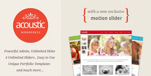 Free Download Acoustic V1.2.0 Powerful Elegant WordPress Theme