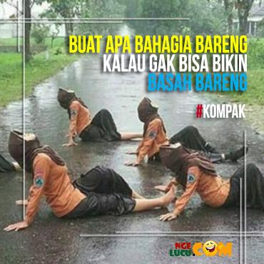 Gambar Lucu DP BBM Hujan Deras Bergerak