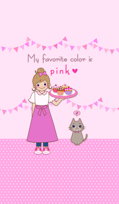 My favorite color is pink