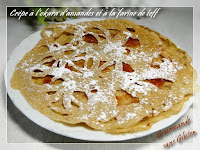 Crêpe à l'okara d'amandes et à la farine de teff, sans gluten, sans lactose
