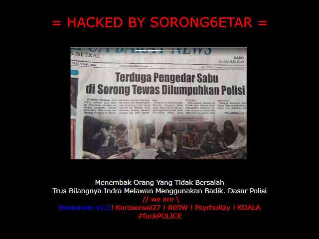 Website Polda Papua Kena Hacking, Terkait Penembakan di Sorong