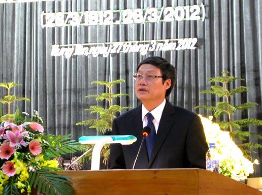 Đồng chí Nguyễn Khắc Hào phát biểu tại lễ kỷ niệm