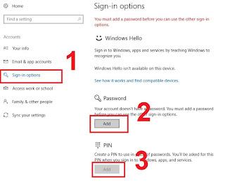 Cara Menggunakan Fingerprint pada Laptop - Add PIN