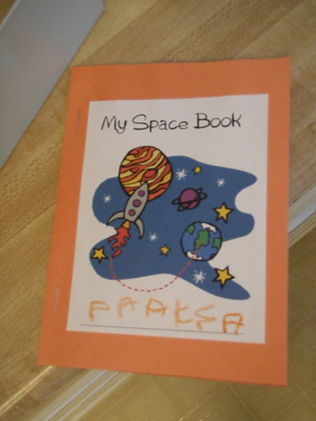 Blue Preschool Outer Space And Astronauts