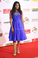 Eesha in Cute Blue Sleevelss Short Frock at Mirchi Music Awards South 2017 ~  Exclusive Celebrities Galleries 033.JPG