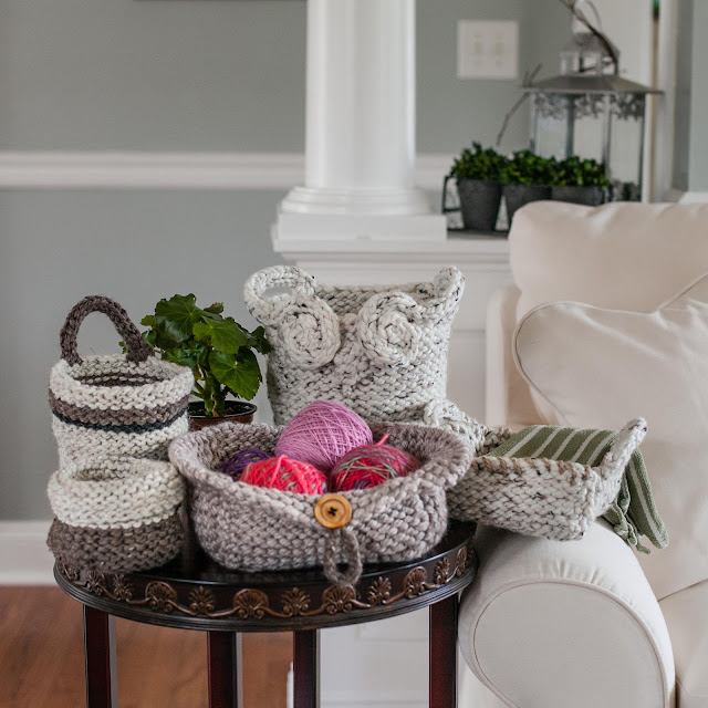 Loom Knit Basket Patterns Now Available Loom Knitting By This