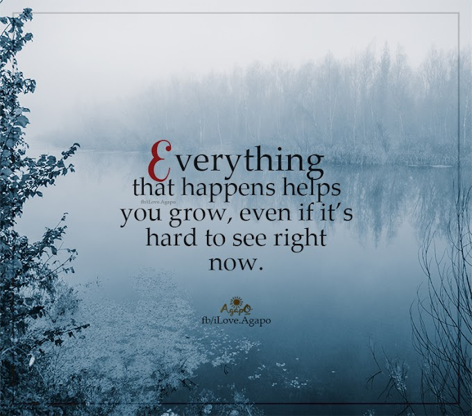 Everything that happens helps you grow