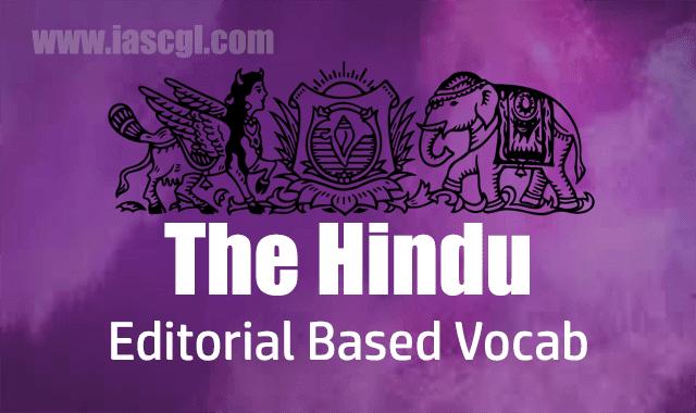 The Hindu Vocab 16 August 2018