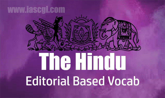 The Hindu Vocab 20 August 2018