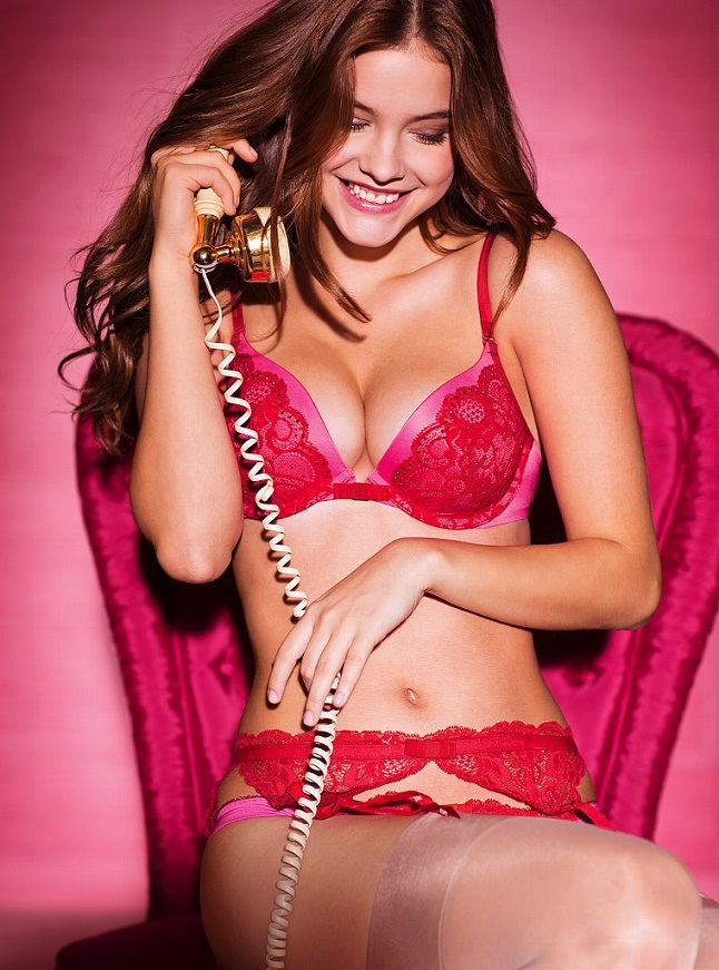 Barbara Palvin poses in Victoria's Secret Lingerie for Valentine's Day 2013