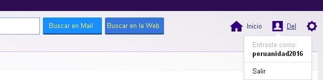 Cerrando sesión de Yahoo!