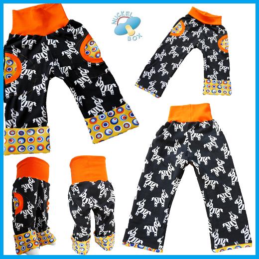 http://www.nuckelbox.de/baby-designer-mode-unikate/lange-Babyhose/schlupf-krempel-hose-Zebra.html