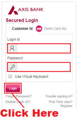 how to link aadhaar card with axis bank online