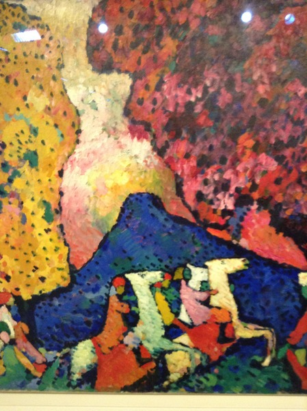 Kadinsky painting at Guggenheim Museum, NYC