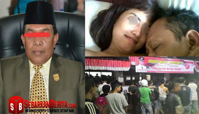 Berbuat Mesum Dengan Istri Sopir Pribadinya , Oknum Ketua DPRD Sijunjung Ini Digrebek Warga Dirumah Dinasnya.