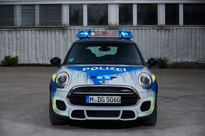 Mini John Cooper Works police car.