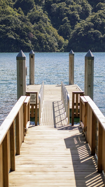 Pier at Kaipupu Wildlife Sanctuary in Picton New Zealand