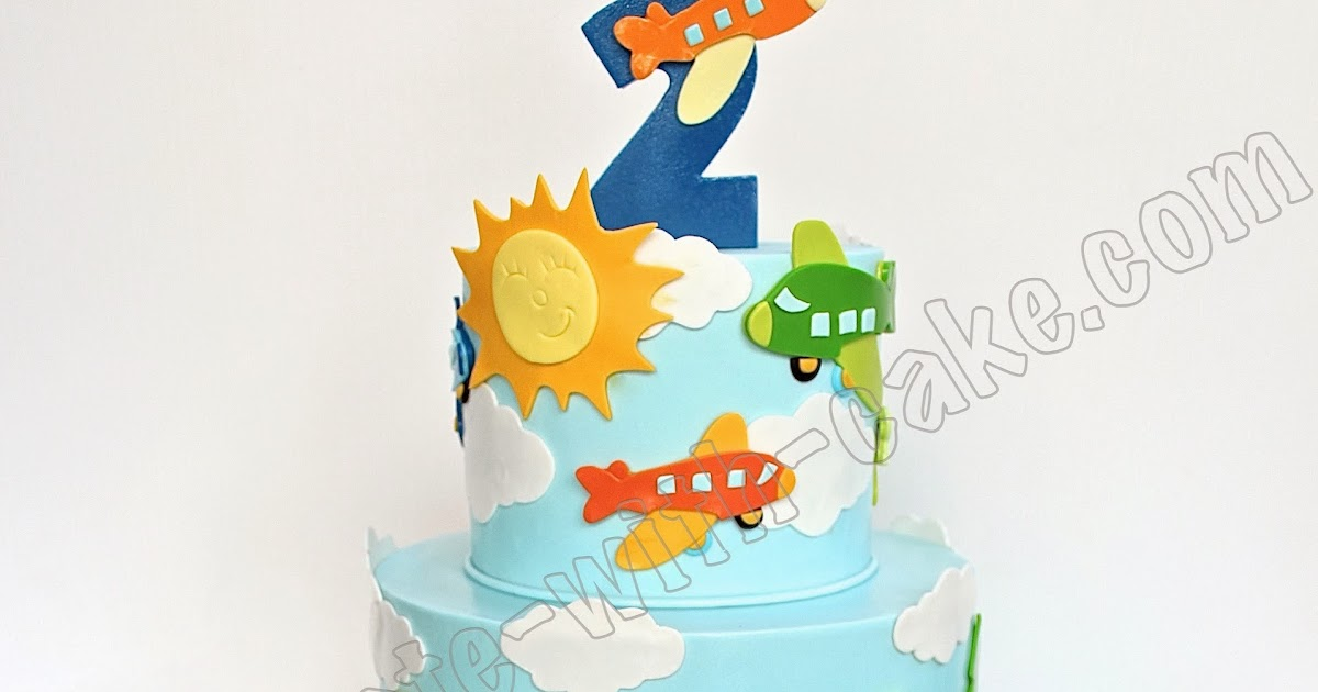Celebrate With Cake Planes Trains And Cars 2 Tier