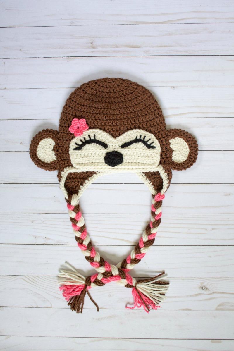 Free Crochet Monkey Hat Pattern - thefriendlyredfox.com