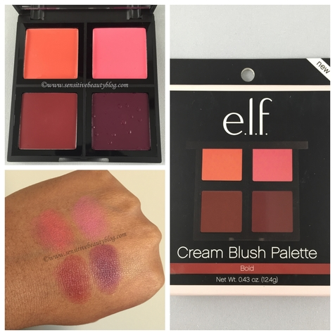 e.l.f. Cream Blush Palette in Bold