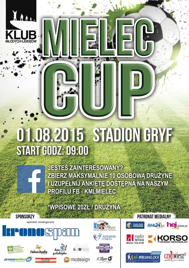 Mielec CUP turniej piłkarski stadion gryf plakat