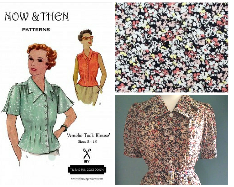 October #wardrobuilder project giveaway - Vintage pattern and fabric kit from Til The Sun Goes Down