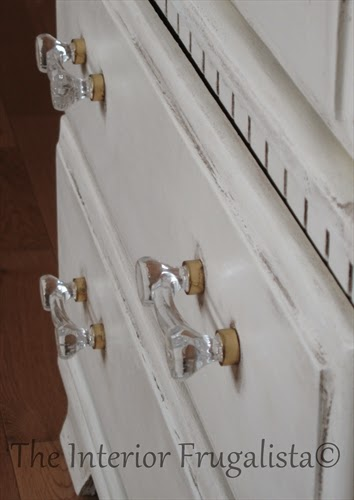 Small Vintage Bedroom Armoire Glass Pulls