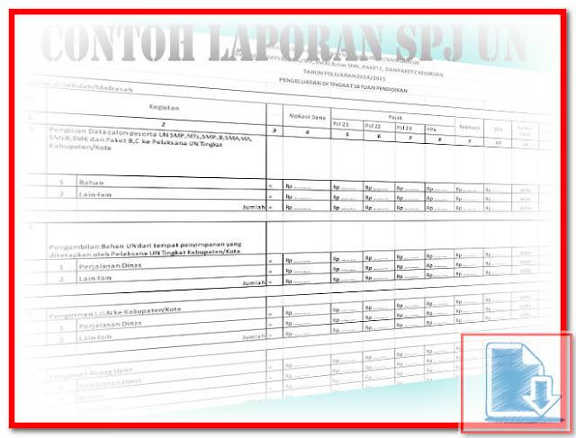 Contoh Format Laporan SPJ Ujian Nasional Format Excel.Xlsx