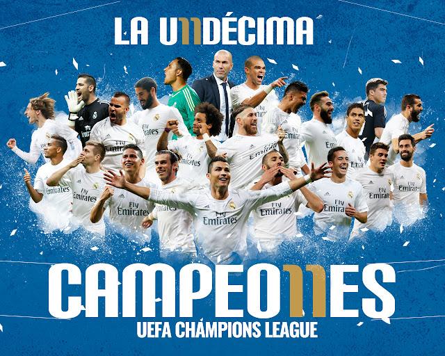 Real Madrid consigue la UNDÉCIMA COPA DE EUROPA. FELICIDADES CAMPEONES.