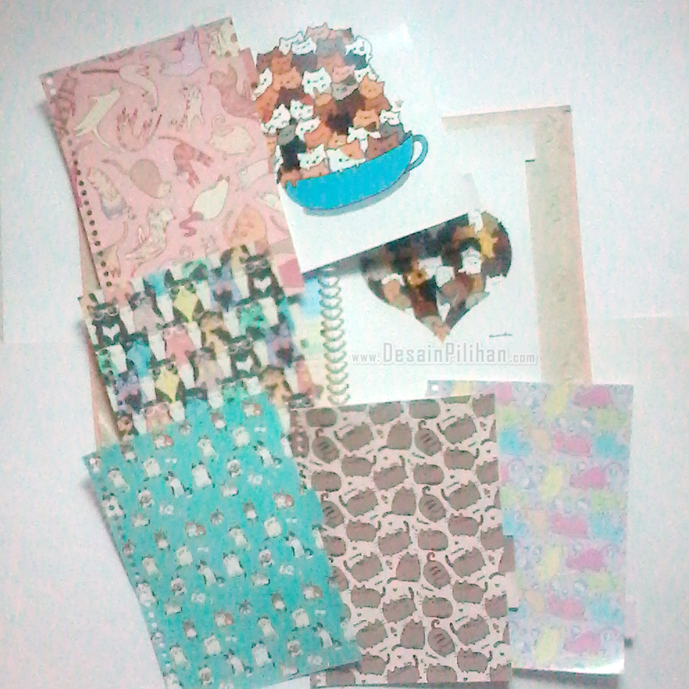 DIVIDER BINDER CUSTOM, PEMBATAS BINDER ANIMAL, CAT CUTE