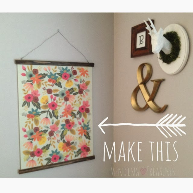 Mending Treasure & Much More: DIY: SCROLL STYLE POSTER FRAMES