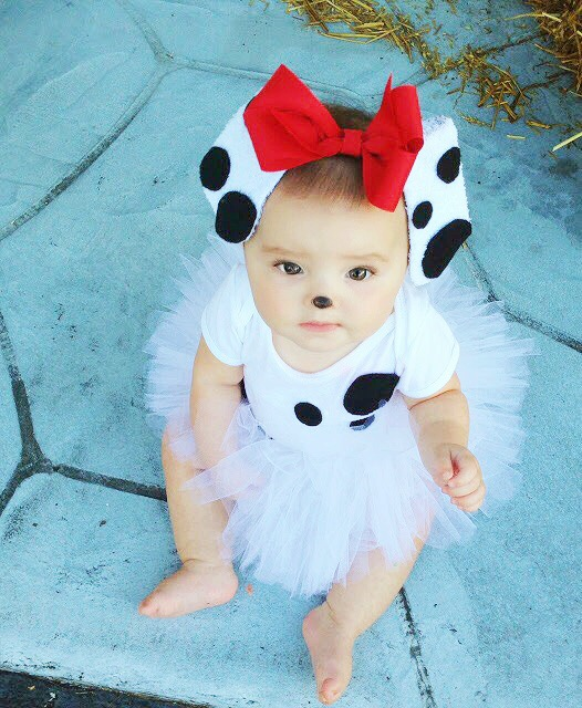 ... that has gotten pinned the most received the most comments emails and questions especially at this time of year is Brynnu0027s first Halloween costume .  sc 1 st  bushel u0026 peck & BUSHEL u0026 PECK: Dalmatian puppy costume tutorial