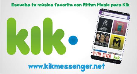 Escucha tu musica favorita con Rithm Music para Kik