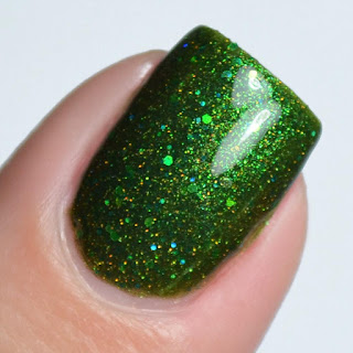 green holo nail polish