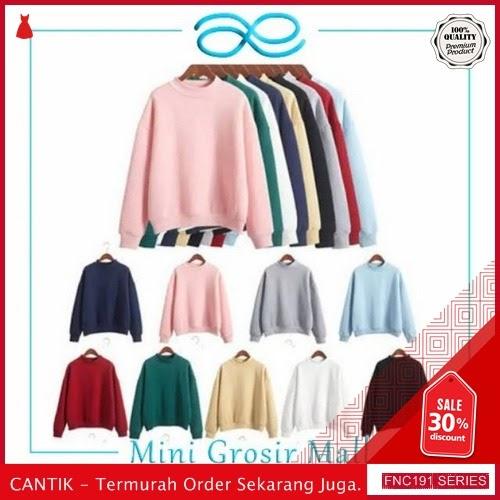 FNC191S33 Sweater Polos Korea Style Wanita Babyterry BMGShop Serba 50 Ribuan