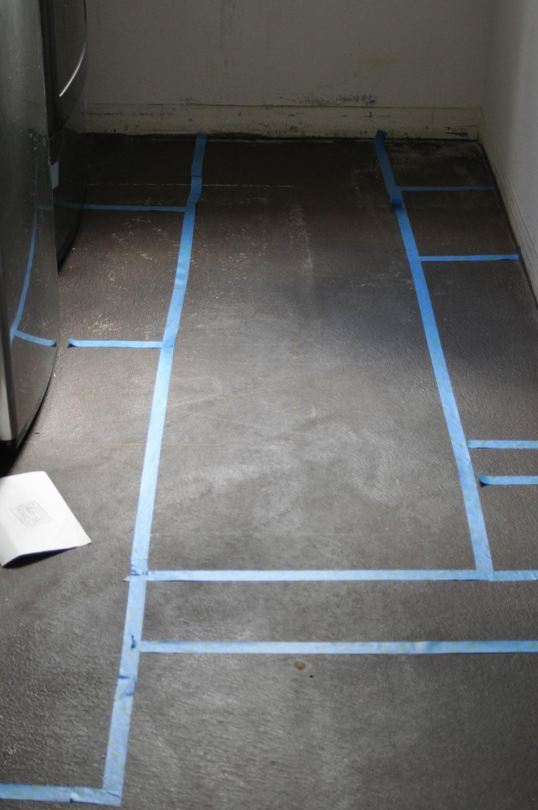Painted Concrete Floors Laundry Room