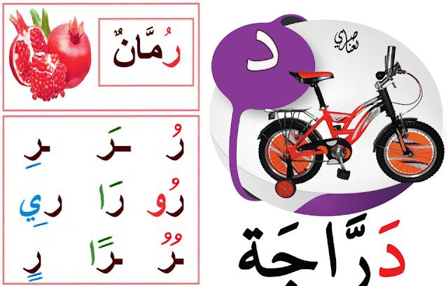 صويرات تزيين الفصل الدراسي حروف و صور باللغتين العربية و الفرنسية