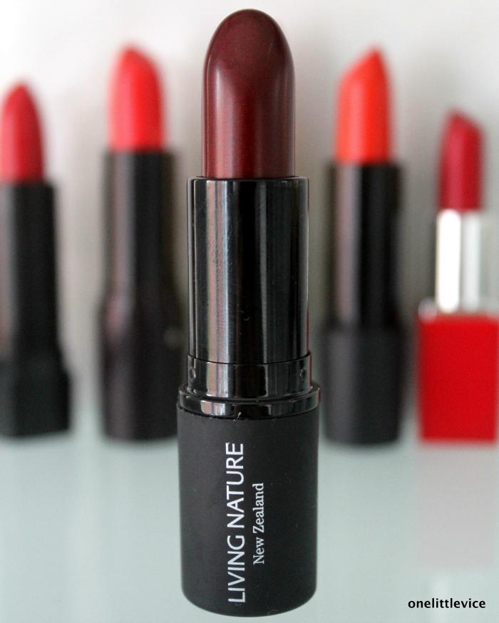 onelittlevice beauty blog: New Organic Red Lipsticks