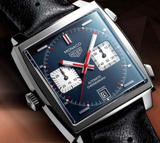 f3e4f3d215e1 El replicas relojes TAG Heuer Monaco fue primer cronógrafo entubado  cuadrados del mundo