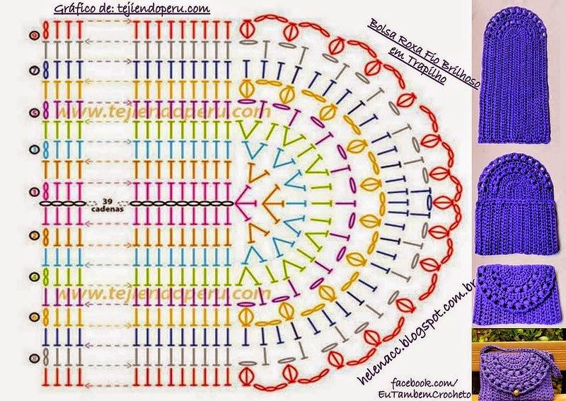 Cartera tejida en totora / trapillo / patrones crochet | Crochet y ...