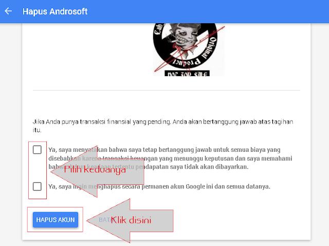 Konfirmasi Hapus Laman Google Plus