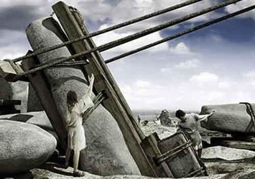 স্টোনহেঞ্জ তৈরির দৃশ্য, Stonehenge construction