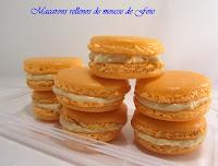 Macarons rellenos de foie