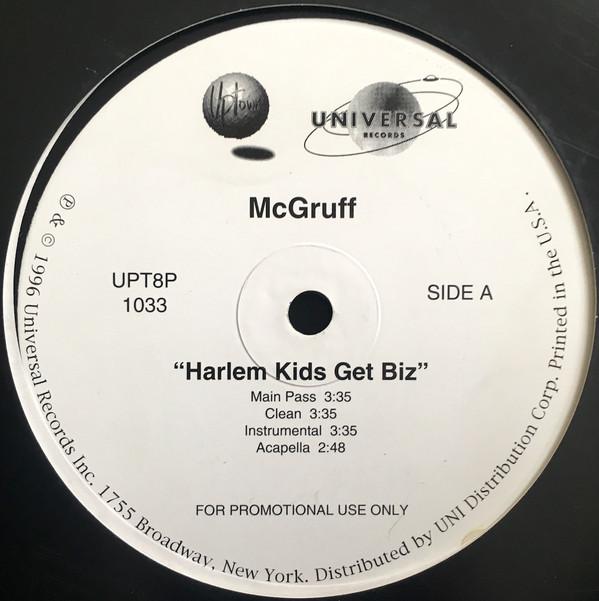 Herb Mcgruff Harlem Kids Get Vinyl 12 Promo 1996
